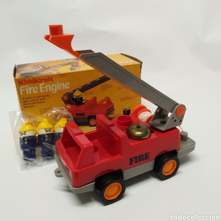 Juegos educativos: Camión de Bomberos, fabricado en Inglaterra por HERSTAIR KIDDICRAFT, Kenley. Año 1978 - a estrenar - Foto 2 - 241139340