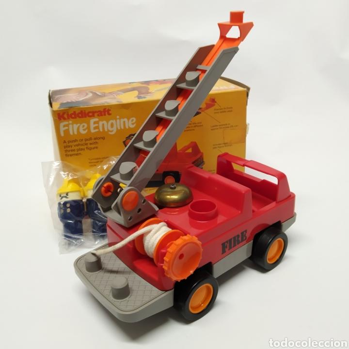 Juegos educativos: Camión de Bomberos, fabricado en Inglaterra por HERSTAIR KIDDICRAFT, Kenley. Año 1978 - a estrenar - Foto 3 - 241139340