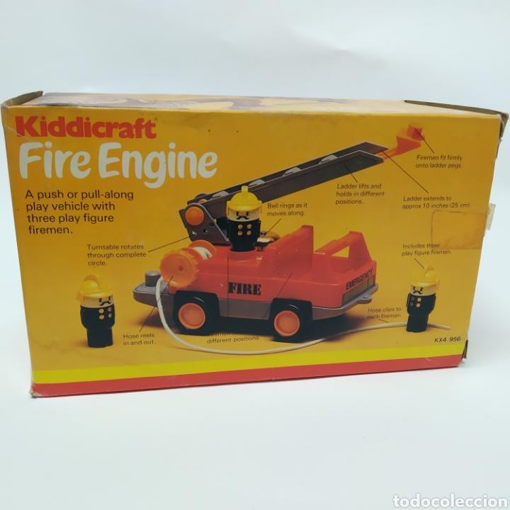 Juegos educativos: Camión de Bomberos, fabricado en Inglaterra por HERSTAIR KIDDICRAFT, Kenley. Año 1978 - a estrenar - Foto 6 - 241139340