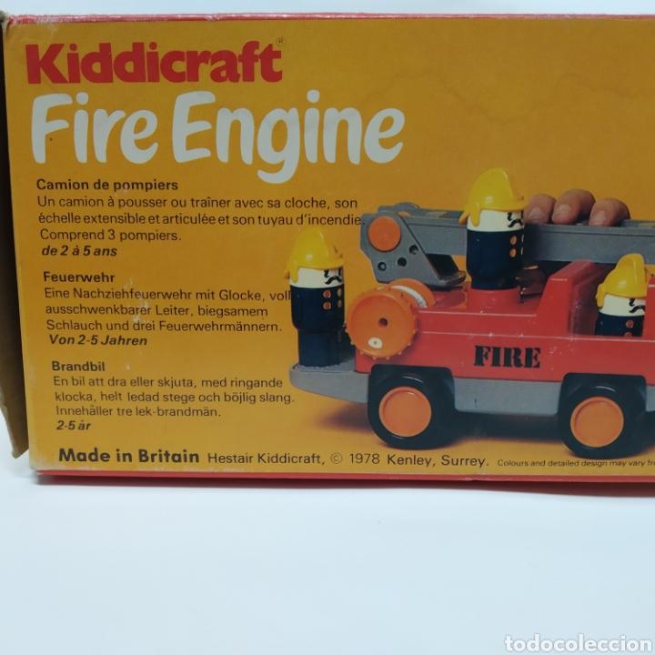 Juegos educativos: Camión de Bomberos, fabricado en Inglaterra por HERSTAIR KIDDICRAFT, Kenley. Año 1978 - a estrenar - Foto 7 - 241139340