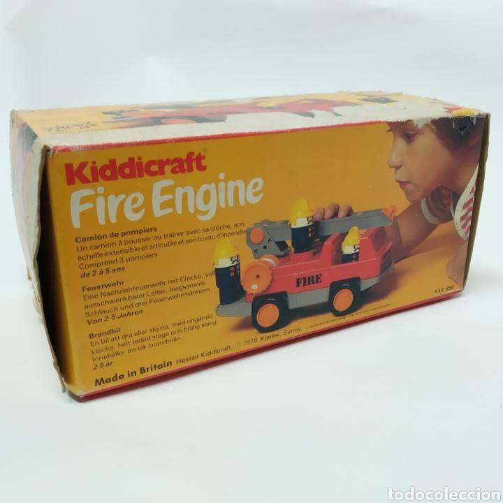 Juegos educativos: Camión de Bomberos, fabricado en Inglaterra por HERSTAIR KIDDICRAFT, Kenley. Año 1978 - a estrenar - Foto 12 - 241139340