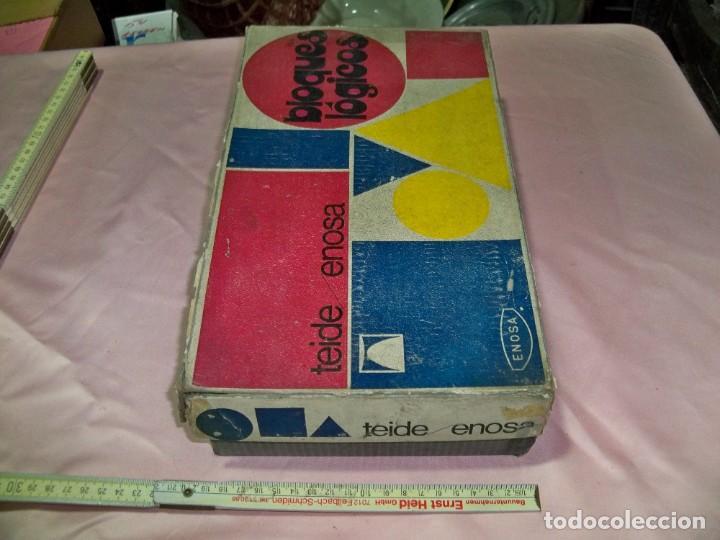 Juegos educativos: Antiguo juego BLOQUES LOGICOS , TEIDE , de ENOSA , made in spain - Foto 2 - 242011585