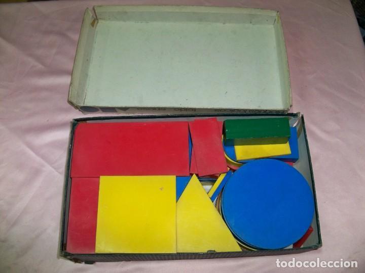 Juegos educativos: Antiguo juego BLOQUES LOGICOS , TEIDE , de ENOSA , made in spain - Foto 3 - 242011585