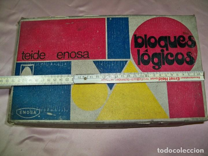 Juegos educativos: Antiguo juego BLOQUES LOGICOS , TEIDE , de ENOSA , made in spain - Foto 4 - 242011585