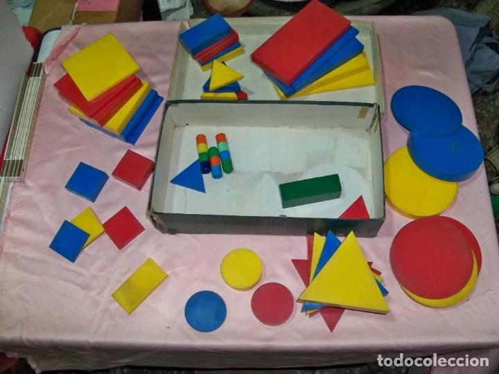 Juegos educativos: Antiguo juego BLOQUES LOGICOS , TEIDE , de ENOSA , made in spain - Foto 5 - 242011585