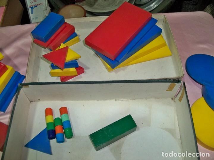 Juegos educativos: Antiguo juego BLOQUES LOGICOS , TEIDE , de ENOSA , made in spain - Foto 8 - 242011585