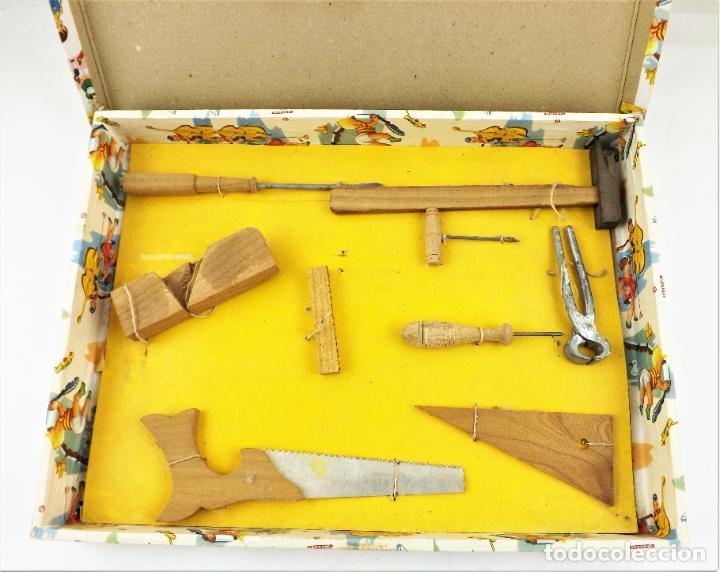 Juegos educativos: Antiguo juego de carpintería años 40 - Foto 2 - 242094485