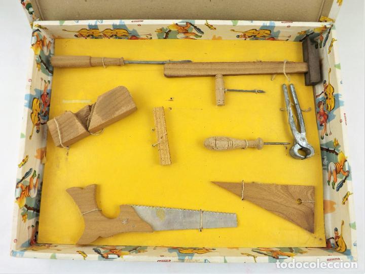 Juegos educativos: Antiguo juego de carpintería años 40 - Foto 3 - 242094485