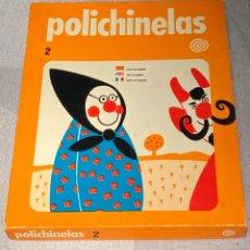 """Juegos educativos: JUEGO DE TEATRO GUIÑOL EN CARTÓN """"POLICHINELAS 2"""" - SURCO. COMPLETO. AÑO 1973. Lote 242206935"""