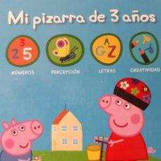 Juegos educativos: PEPPA PEGG MI PIZARRA DE 3 AÑOS 32 PIZARRAS LAVABLES CON ACTIVIDADES PATIMPATAM 1 EDICION 2013. Lote 243312265