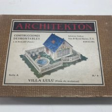 Juegos educativos: ARCHITEKTON - VILLA LULU - SERIE A - Nº 8 - CONSTRUCCIONES DESMONTABLES - SEIX BARRAL. Lote 243987550