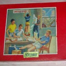 Juegos educativos: ANTIGUO JUEGO IMPRESORES BENJAMIN. Lote 248805200