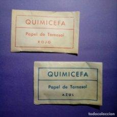 Juegos educativos: PAPEL TORNASOL ROJO Y AZUL - ANTIGUO QUIMICEFA. Lote 253426365