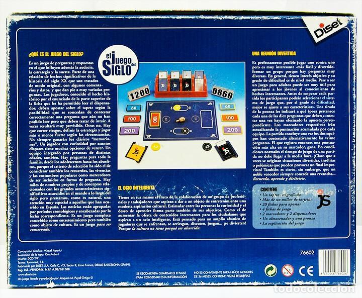 Juegos educativos: EL JUEGO DEL SIGLO - DISET - PARA DIVERTIRSE RECORDAR Y APRENDER - Foto 2 - 263546360