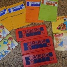 Jogos educativos: JUEGO MINI ARCO - TRES CAJAS CON CUADERNOS DE EJERCICIOS. Lote 264682854