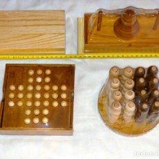 Juegos educativos: LOTE 4 JUEGOS DE INGENIO / PUZZLES / PASATIEMPOS DE MADERA, A ESTRENAR. Lote 268998359