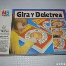 Juegos educativos: GIRA Y DELETREA.MB.. Lote 273173958