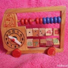 Juegos educativos: ABACO INFANTIL-JUGUETE DE MADERA-AÑOS 80. Lote 275055393