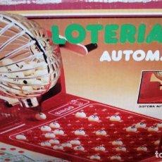 Juegos educativos: LOTERIA BINGO AUTOMATICO AÑOS 70 COMPLETO CAJA BUEN ESTADO MARCA CHICOS. Lote 276403703