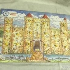 Juegos educativos: PUZZLE GRANDE DE ENCAJE CASTILLO CON PUENTE EN MADERA. VINTAGE. CORTADO A LASER. 42X30. A ESTRENAR. Lote 276704213