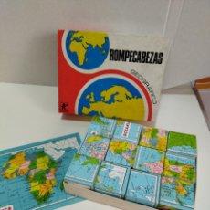 Juegos educativos: ROMPECABEZAS GEOGRAFICO BORRAS - REF. 312 - JUEGO DE MESA COMPLETO. Lote 277715363