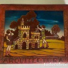 Juegos educativos: ARQUITECTURA - JUEGO DE CONSTRUCCIÓN, COMPLETO - PIEZAS DE MADERA - CON PLANOS - CAJA LITOGRAFIADA. Lote 283748998