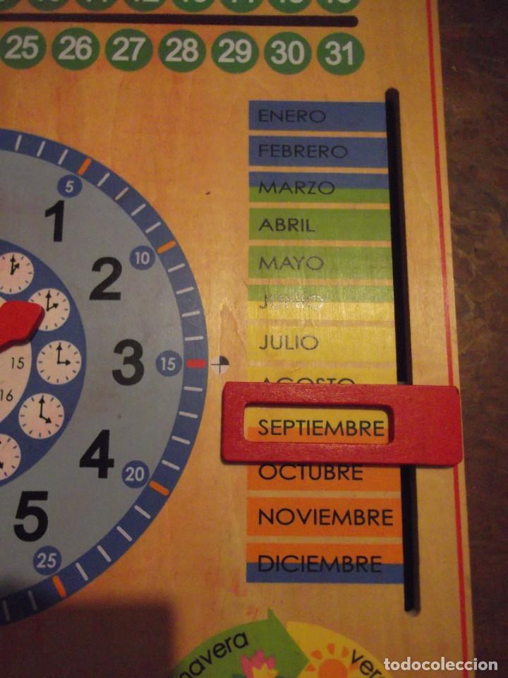 MAGNIFICO JUEGO EDUCATIVO MES , ESTACIÓN ; SEMANA ; DIA ; HORA , TIEMPO DE MADERA 44 X 44 CM (Juguetes - Juegos - Educativos)
