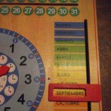 Juegos educativos: MAGNIFICO JUEGO EDUCATIVO MES , ESTACIÓN ; SEMANA ; DIA ; HORA , TIEMPO DE MADERA 44 X 44 CM. Lote 288370703