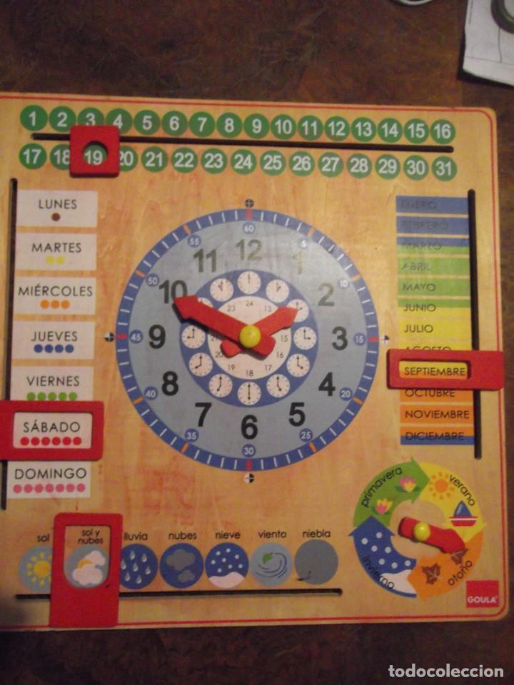 Juegos educativos: Magnifico juego educativo MES , ESTACIÓN ; SEMANA ; DIA ; HORA , TIEMPO de madera 44 x 44 cm - Foto 2 - 288370703