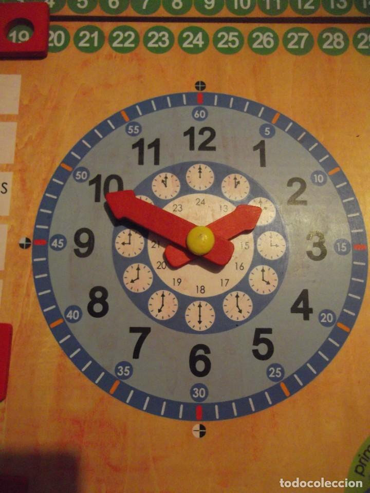 Juegos educativos: Magnifico juego educativo MES , ESTACIÓN ; SEMANA ; DIA ; HORA , TIEMPO de madera 44 x 44 cm - Foto 3 - 288370703