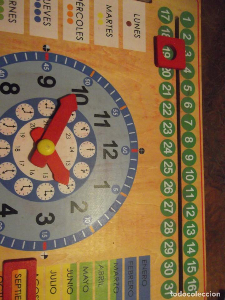 Juegos educativos: Magnifico juego educativo MES , ESTACIÓN ; SEMANA ; DIA ; HORA , TIEMPO de madera 44 x 44 cm - Foto 4 - 288370703