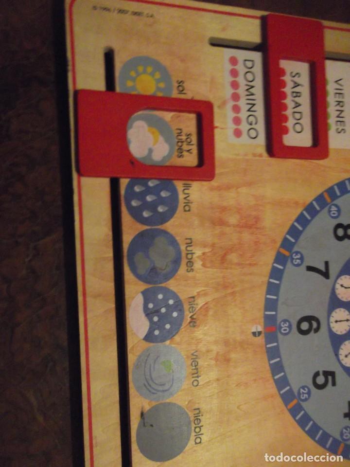 Juegos educativos: Magnifico juego educativo MES , ESTACIÓN ; SEMANA ; DIA ; HORA , TIEMPO de madera 44 x 44 cm - Foto 8 - 288370703