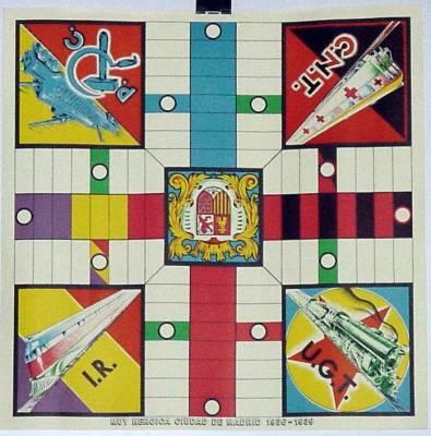 PARCHIS CON PUBLICIDAD POLITICA 1937 (Juguetes - Juegos - Juegos de Mesa)
