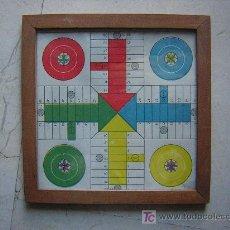 Juegos de mesa: ANTIGUO PARCHIS CON MARCO DE MADERA Y CRISTAL MEDIDAS 20 X 20 CM. . Lote 27546146