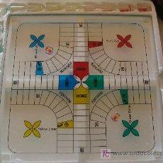 Juegos de mesa: JUEGO DE PARCHIS DE CRISTAL. LAS FICHAS SON CHUPITOS. ARTESANÍA GALLEGA. PERFECTO. NO USADO. . Lote 7238927