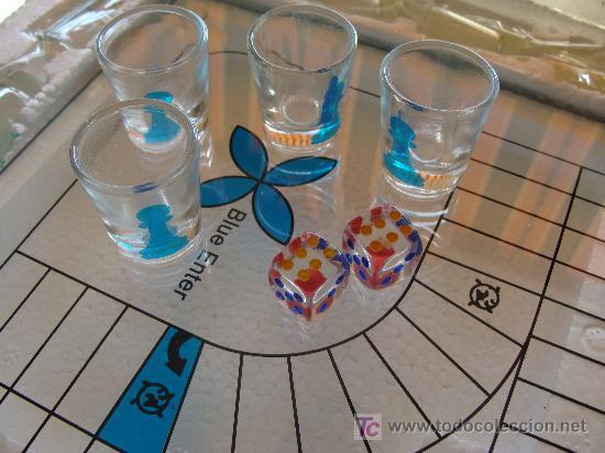 Juegos de mesa: JUEGO DE PARCHIS DE CRISTAL. LAS FICHAS SON CHUPITOS. ARTESANÍA GALLEGA. PERFECTO. NO USADO. - Foto 2 - 7238927