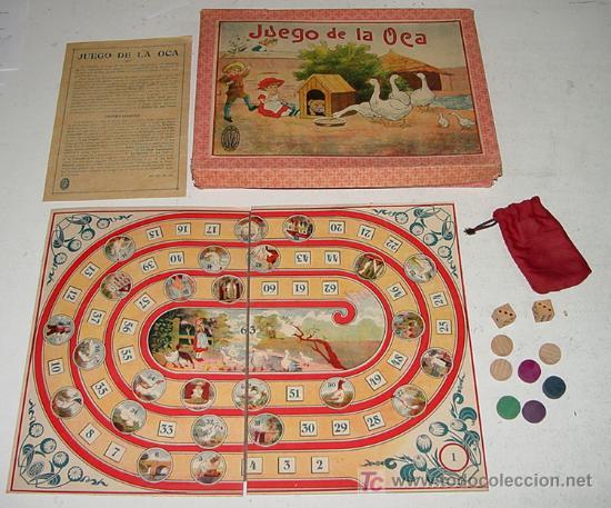Antiguo Juego De La Oca Completamente Origina Comprar Juegos De