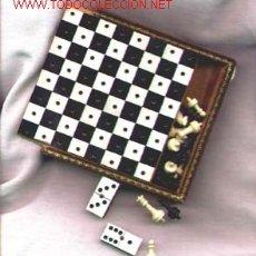 Juegos de mesa: AJEDREZ Y DOMINO DE VIAJE PIEL. Lote 26027005
