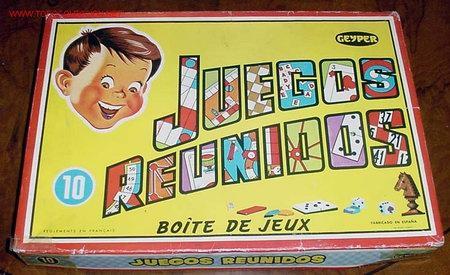 JUEGOS REUNIDOS GEYPER - NUMERO 10 - CONTIENE CUATRO CUBILETES - CUATRO RATONES - UNA PEONZA - CUATR (Juguetes - Juegos - Juegos de Mesa)