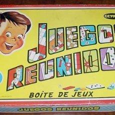 Juegos de mesa: JUEGOS REUNIDOS GEYPER - NUMERO 10 - CONTIENE CUATRO CUBILETES - CUATRO RATONES - UNA PEONZA - CUATR. Lote 23335318