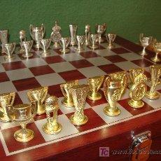 Juegos de mesa: JUEGO DE AJEDREZ. REAL MADRID CLUB DE FÚTBOL. COPA INTERCONTINENTAL, EUROPA, REY. . Lote 17846491