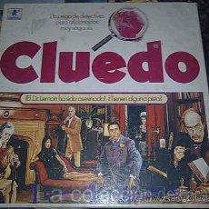 Juegos de mesa: CLUEDO CAJA CUADRADA DE BORRAS CON VARIANTE EN EL PERSONAJE DEL PURO TIENE PELO. Lote 18250752