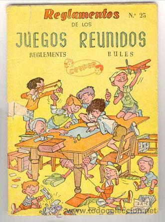 REGLAMENTO ANTIGUO DE JUEGOS REUNIDOS, Nº 25 DE GEYPER (Juguetes - Juegos - Juegos de Mesa)