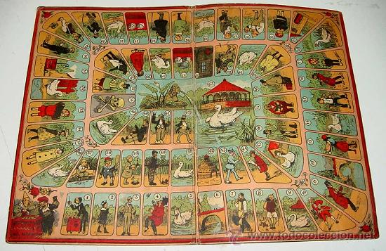 Antiguo carton con juego de la oca a os 20 comprar juegos de mesa antiguos en - La oca juego de mesa ...