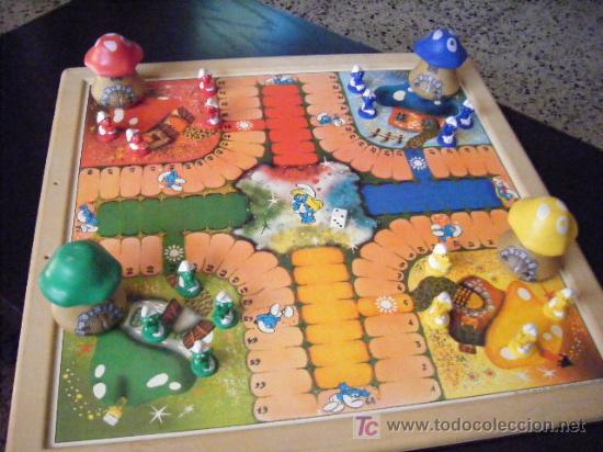 Antiguo Juego De Parchis Los Pitufos Ver Foto Comprar Juegos De