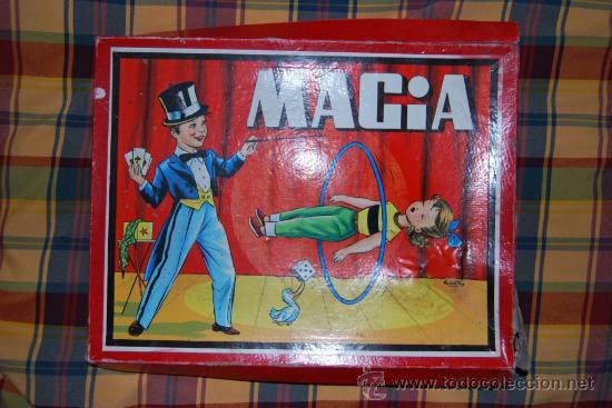 JUEGO DE MAGIA BORRAS CON LITOGRAFIA SABATES AÑOS 60 (Juguetes - Juegos - Juegos de Mesa)