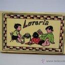 Juegos de mesa: LOTERÍA. ESTUCHE DE MADERA. AÑOS 60. CARTONES COMPLETOS. FALTAN BOLAS. Lote 21813644