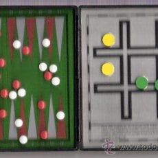 Juegos de mesa: BACK GAMMON Y TRES EN RAYA MAGNÉTICOS DE RIMA AÑOS 70. Lote 26748278
