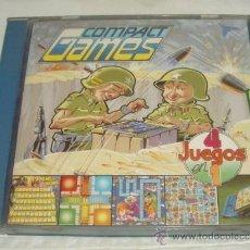 Juegos de mesa: COMPACT GAMES Nº 4,DE LA MARCA CHICOS,4 JUEGOS EN 1,CAJA ORIGINAL,A ESTRENAR,AÑOS 70. Lote 22239650