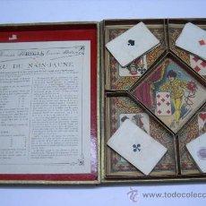 Juegos de mesa: ANTIGUO Y PRECIOSO JUGUETE DE CARTAS FRANCÉS.JEU DU NAIN JAUNE(JUEGO DEL ENANO AMARILLO)1915-20. Lote 26394691